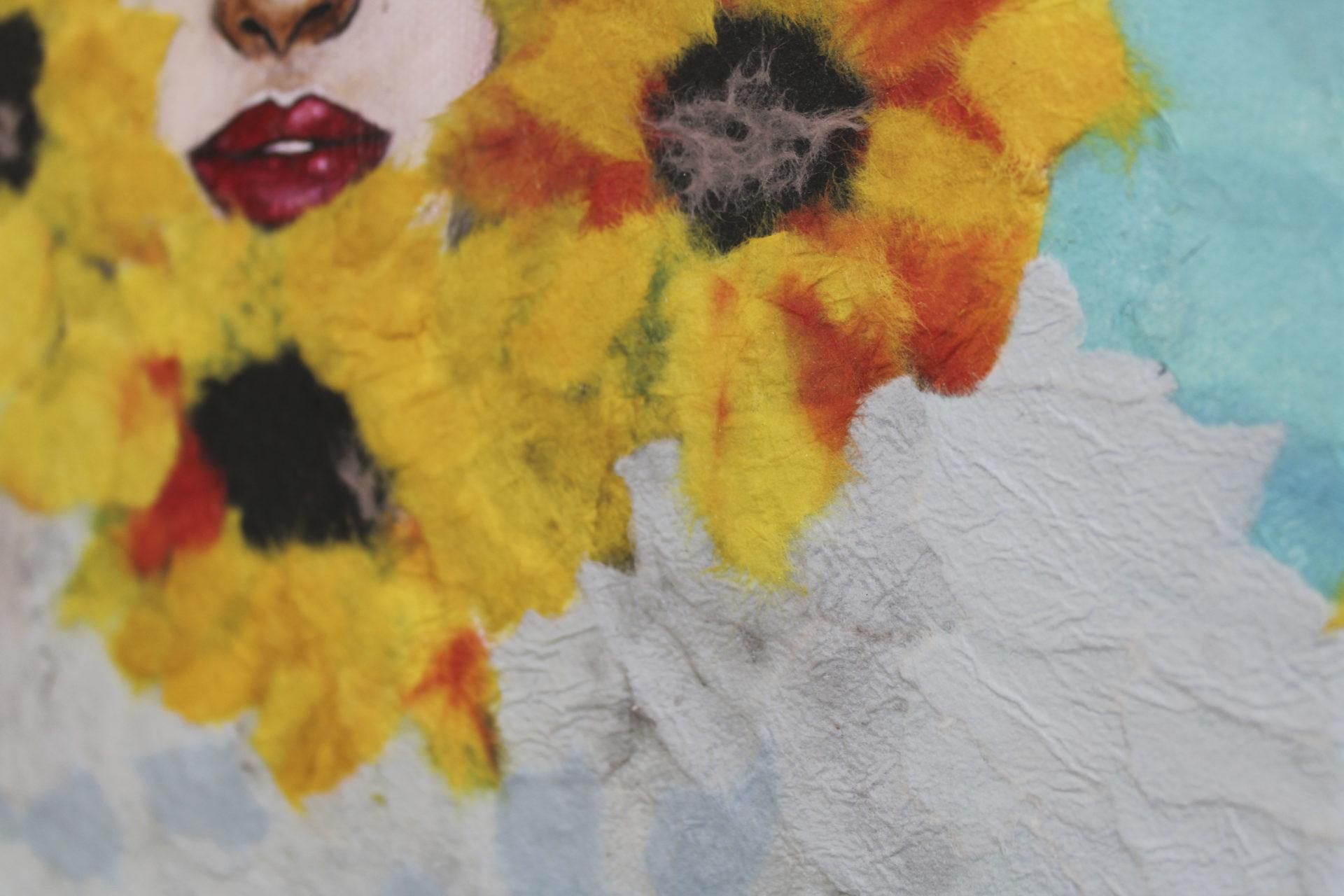 Here Comes the Sun - watercolor, washi paper