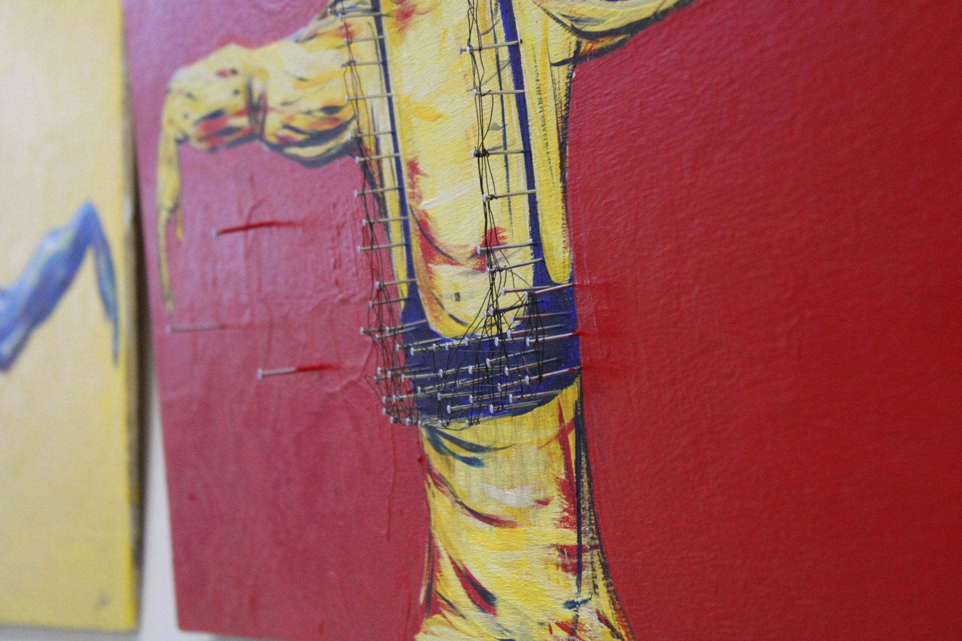Recapturing Freedom 2 - acrylic paint, mixed media