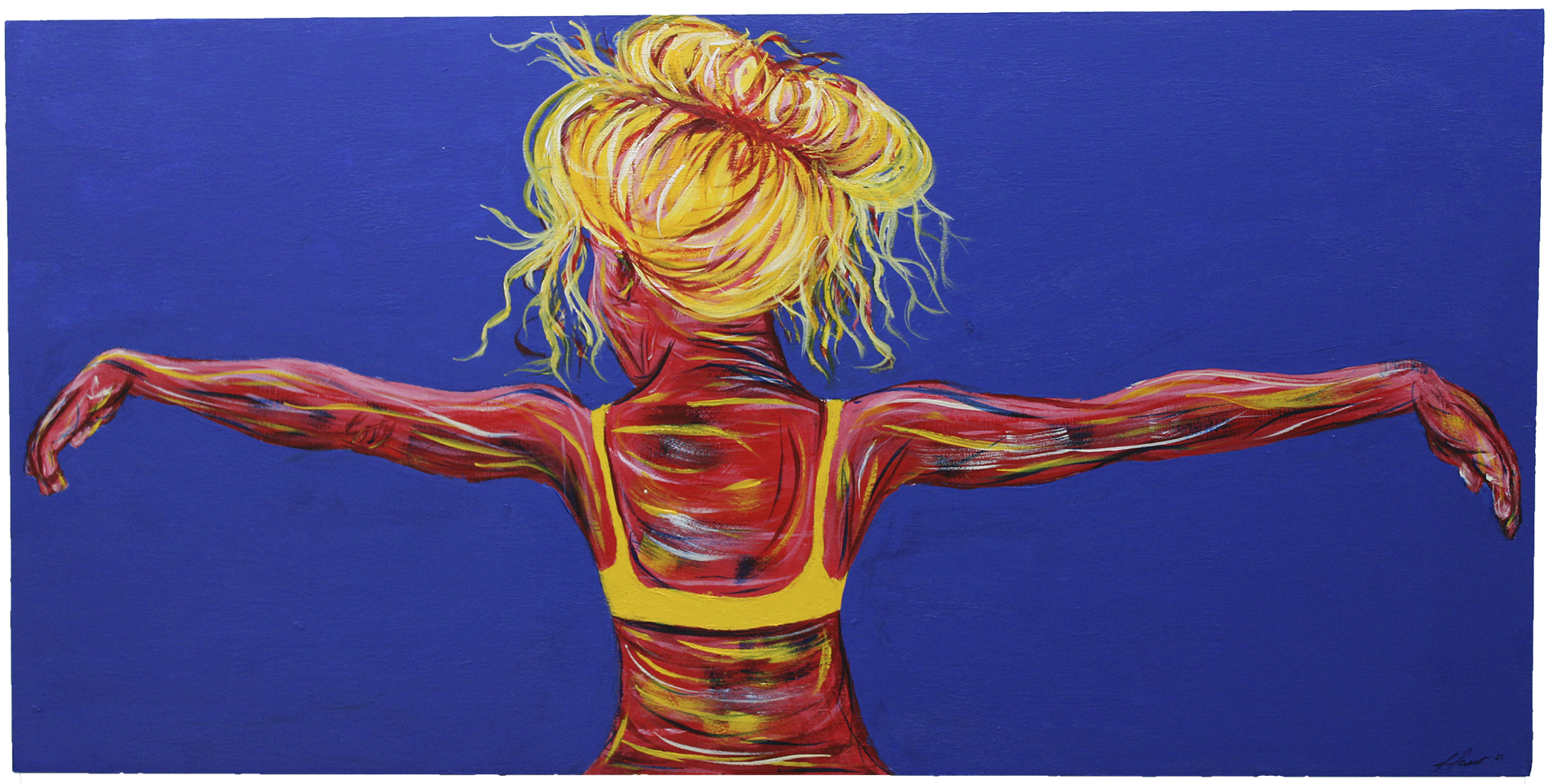 Recapturing Freedom 3 - acrylic paint